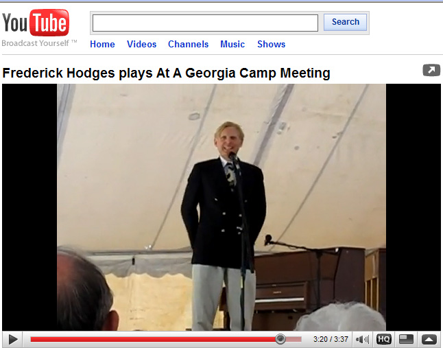 Frederick Hodges plays 'At A                       Georgia Camp Meeting""