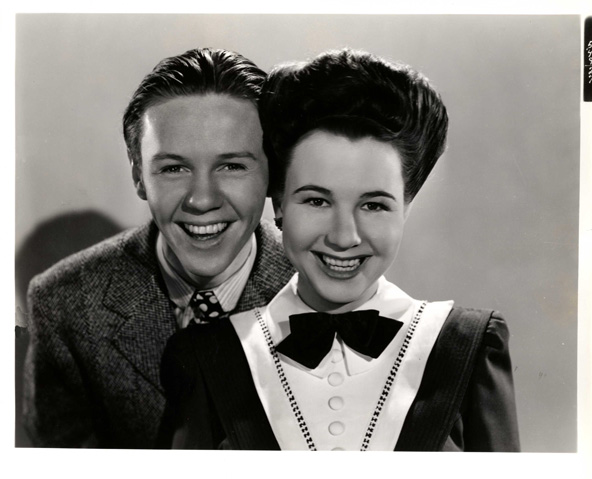 Jimmy Lydon and Jane Withers.                     The Mad Martindales