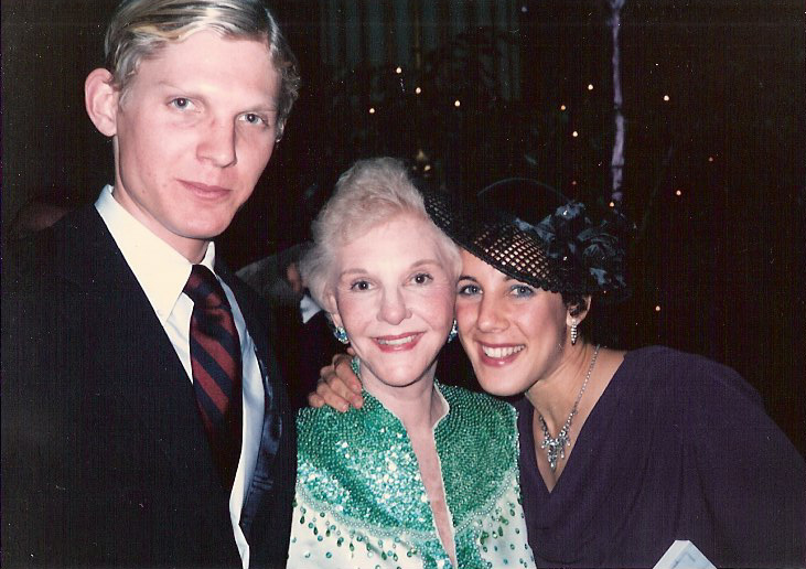Mary Martin with Frederick Hodges and Rusty                         Frank