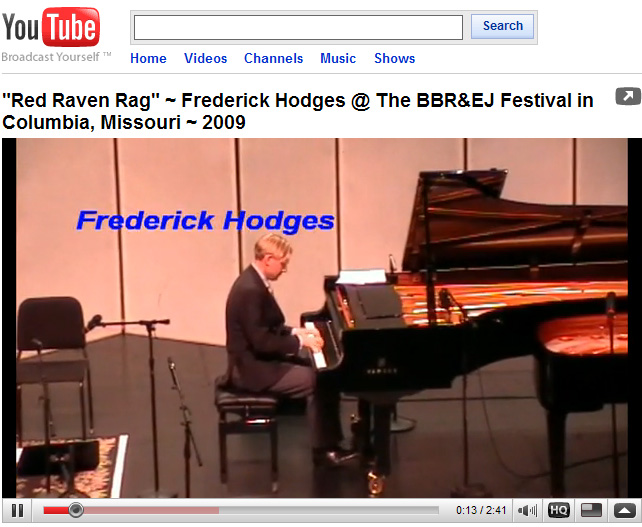 Frederick Hodges plays Red Raven                     Rag